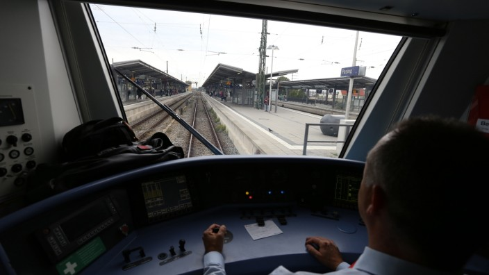Lokführer bei der S-Bahn in München, 2015
