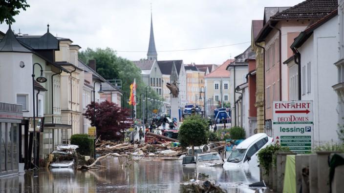 Überschwemmungen in Niederbayern
