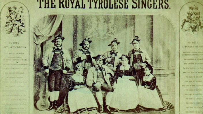 Brauchtum: Die Geschwister Rainer waren Mitte des 19. Jahrhunderts einer der erste Jodel-Exporte.