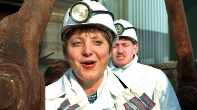 Angela Merkel als Umweltministerin bei ihrem ersten Besuch in Gorleben im März 1995.