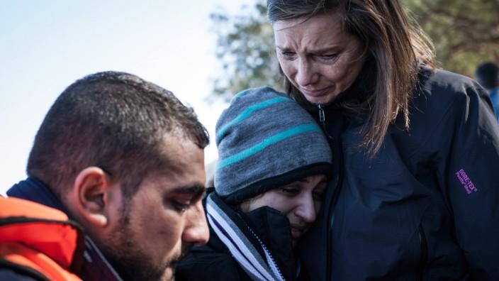 Katrin Goering-Eckardt auf Lesbos