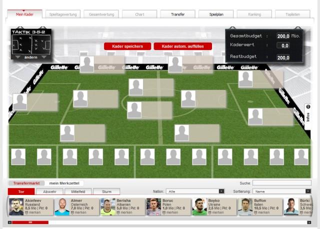 Kicker Managerspiel Europameisterschaft 2016
