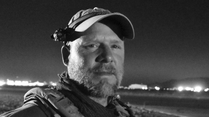 NPR photojournalist David Gilkey is pictured at Kandahar Airfield, Afghanistan in this handout photo