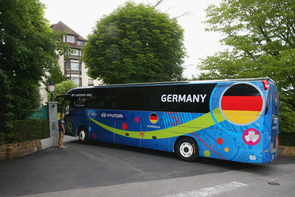 Team Germany Arrives At Team Base Camp For The Euro 2016