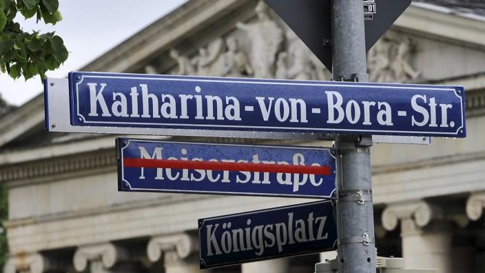 Die Meiserstraße in München wurde in Katharina-von-Bora-Straße umbenannt