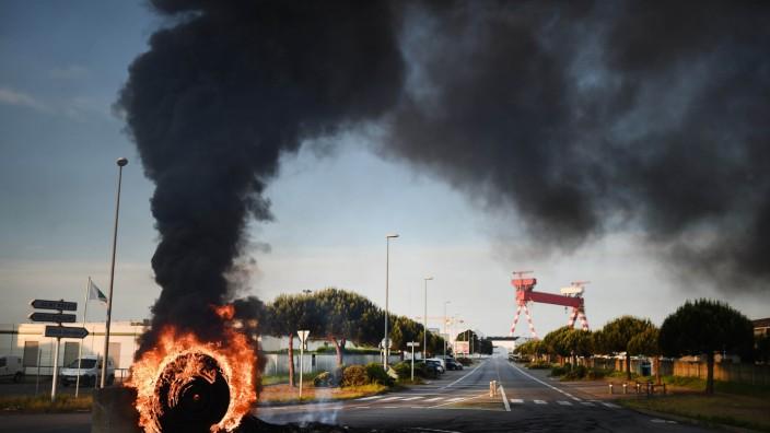 Blockade von Treibstoffdepots in Frankreich
