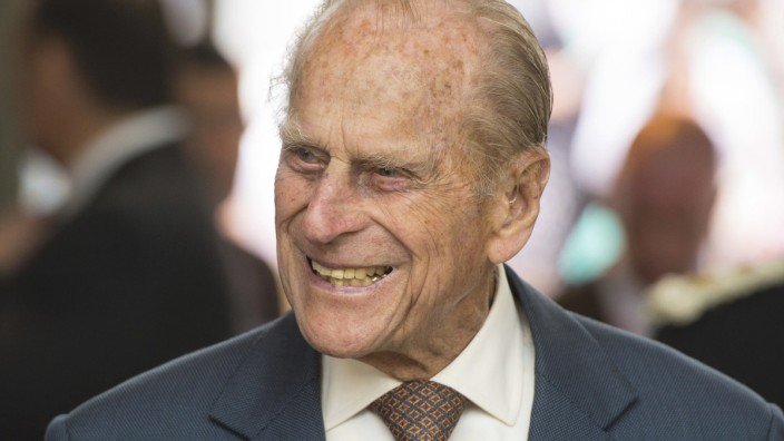 Britain's Prince Philip attends the opening of the Cardiff University Brain Research Imaging Centre