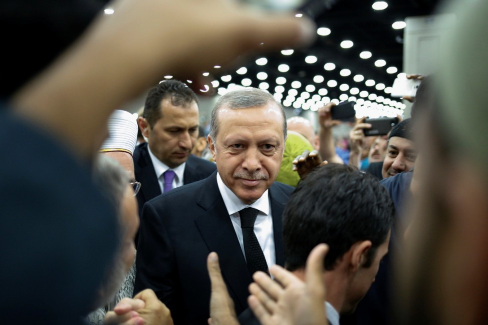 Turkish President Erdogan arrives to take part in the jenazah, an Islamic funeral prayer, for the late boxing champion Muhammad Ali in Louisville