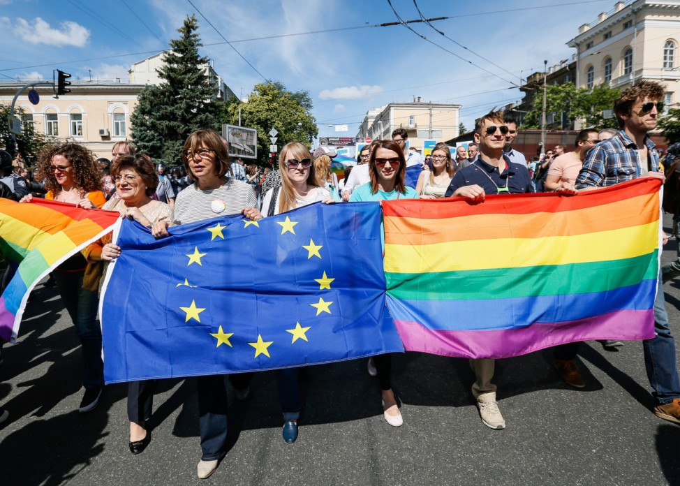 Gay pride parade in Kiev