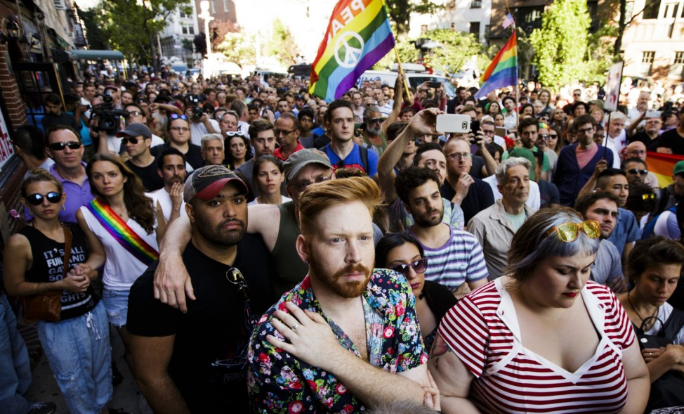 Vigil in New York at Stonewall inn for Orlando Shooting Vicitms