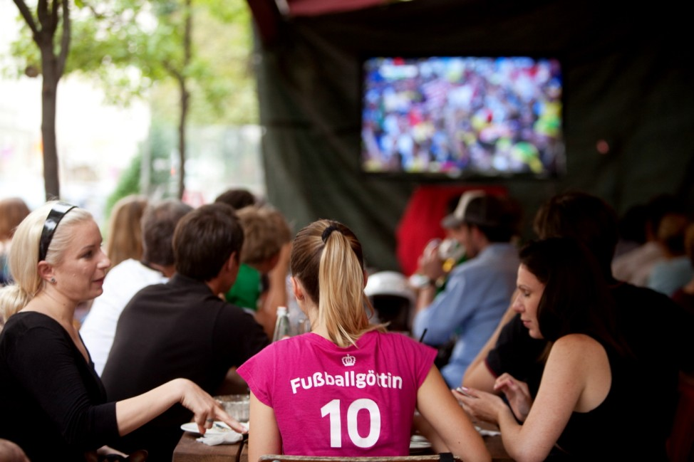 Fußball-WM 2014: Fans beim Public Viewing in München, 2014