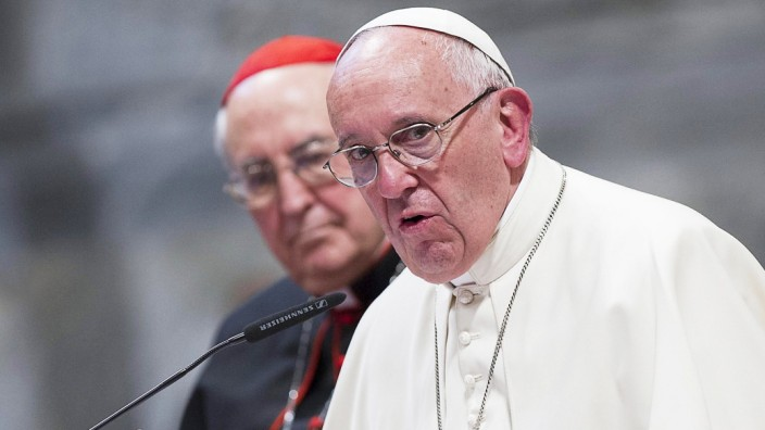 Pope Francis during the Pastoral Conference of the Rome's Diocese