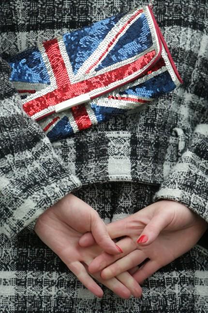 Handtasche in britischen Farben