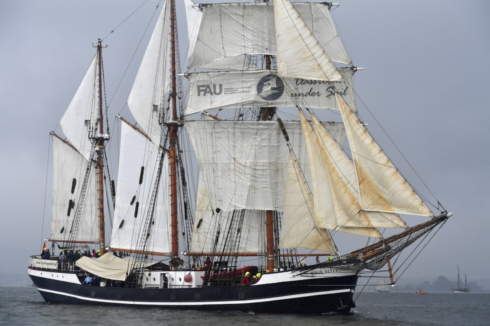 Windjammer Tall Ships Parade In Kiel