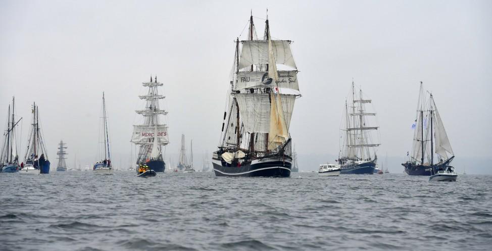 Windjammer Tall Ships Parade In Kiel