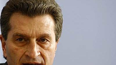 Günther Oettinger: In der Kritik: Günther Oettinger