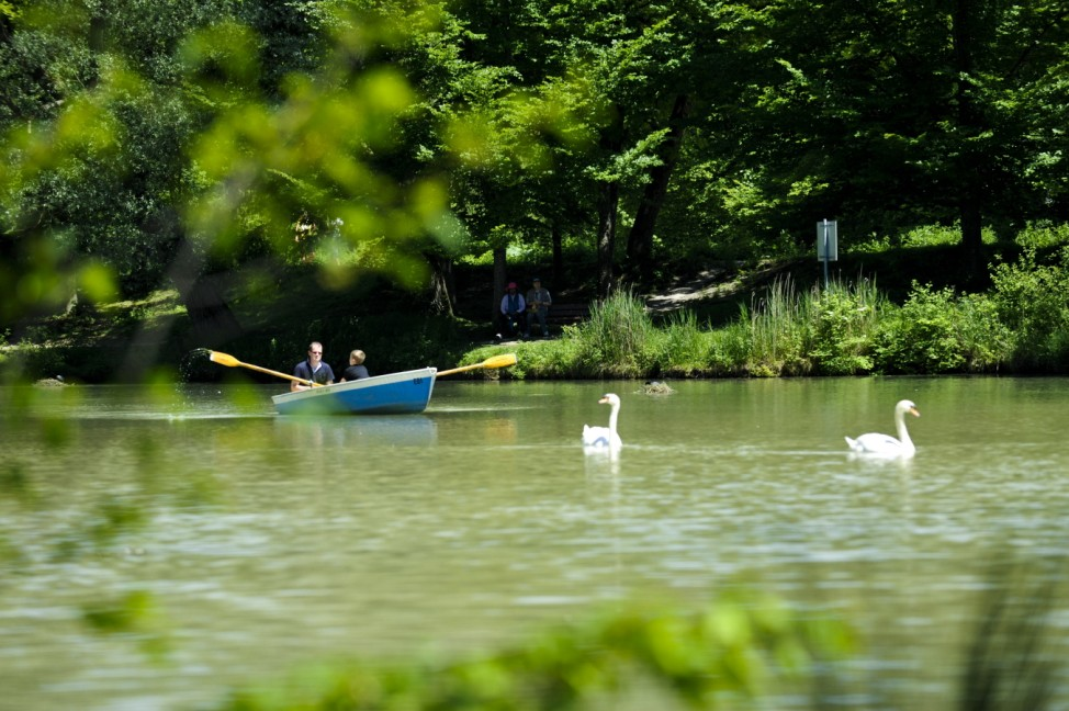 Bootsfahrer am Hinterbrühler See, 2010
