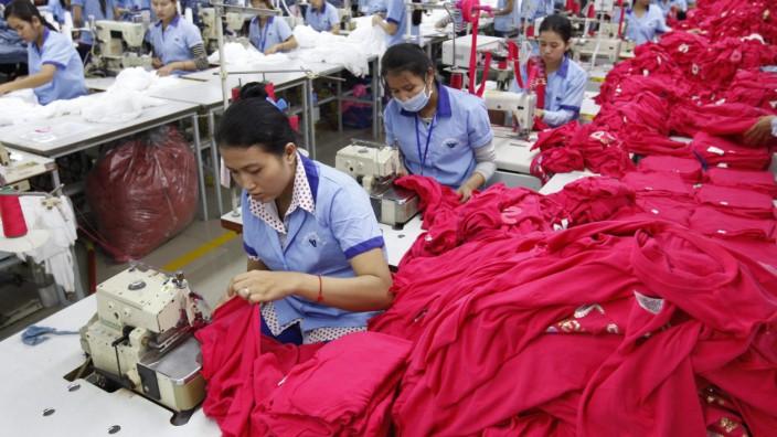 Textilarbeiter in Kambodscha