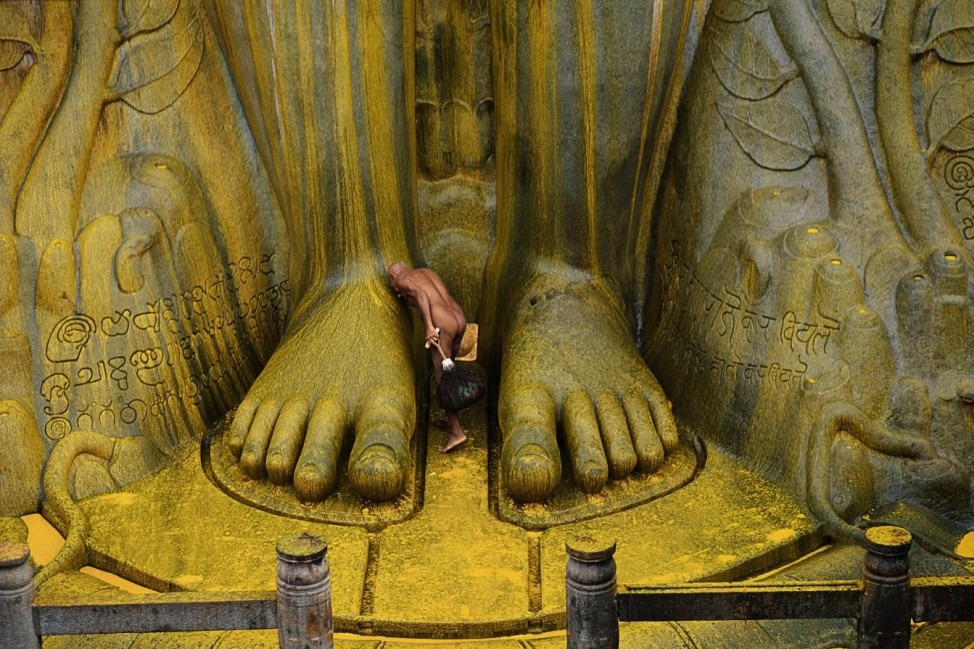 Sravana Belgola, Statue of Bahubali, Digambara Monk; 08_Michaud_S.230-31_Indien