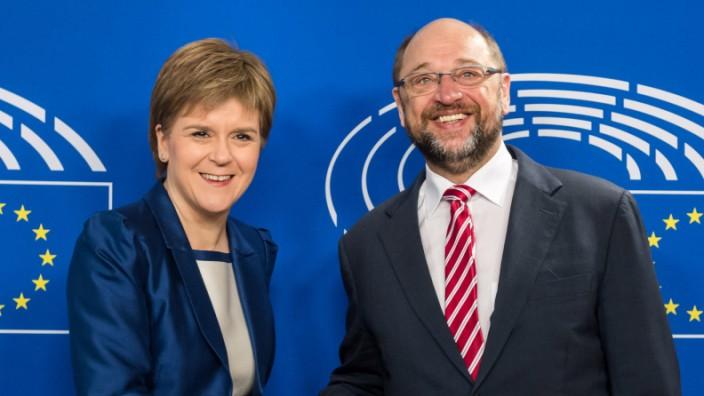 Schottland nach Brexit-Votum: Nicola Sturgeon und Martin Schulz: Treffen mit nur symbolischem Wert.
