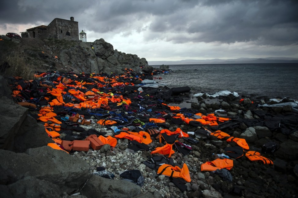 PRIZEWINNER: CIWEM Changing Climate Award 2016Life Jackets on the Greek Island of Lesbos, 2016 / Lesbos