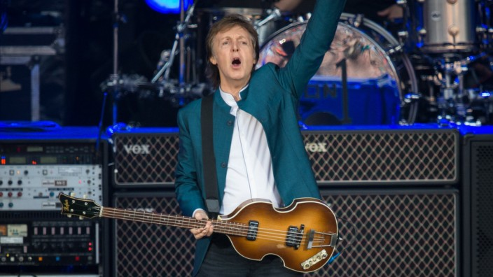 Paul McCartney tritt in Berlin auf