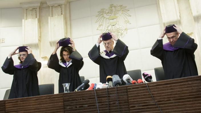 Austrian Constitutional Court verdict on result of Presidential e
