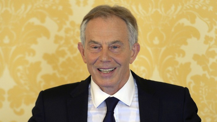 Former British Prime Minister Tony  Blair delivers a speech following the publication of The Iraq Inquiry Report by John Chilcot in London