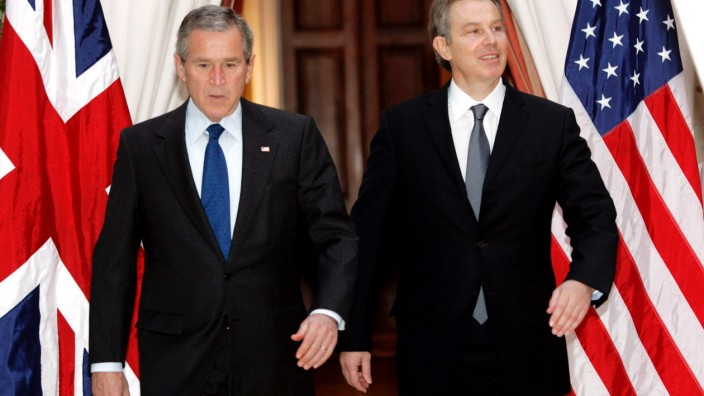 George Bush, Tony Blair