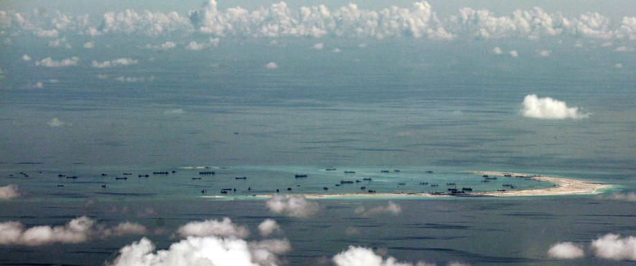 US Navy destroyer passes disputed waters in the South China Sea