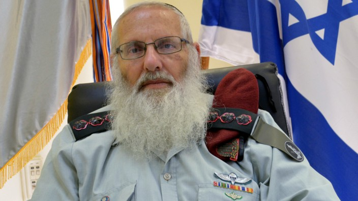 Rabbi Colonel Eyal Karim, Israeli military chief rabbi-designate, is seen in this handout picture received by Reuters from the Israeli Defence Force (IDF) Spokesperson Unit