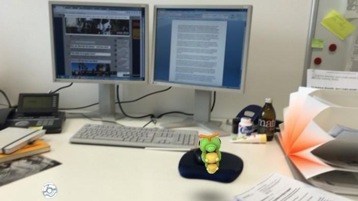Pokémon im Büro