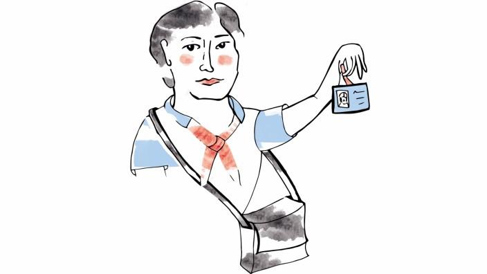 """""""Wie ich euch sehe"""" zu Kontrolleurin: Wie ich euch sehe: Fahrkartenkontrolleurin"""