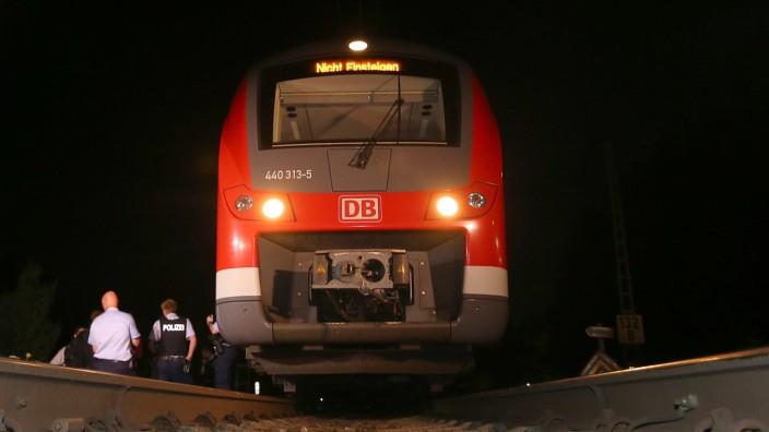 Axt-Angriff in Regionalzug: Der Zug, in dem es zu dem Angriff kam.