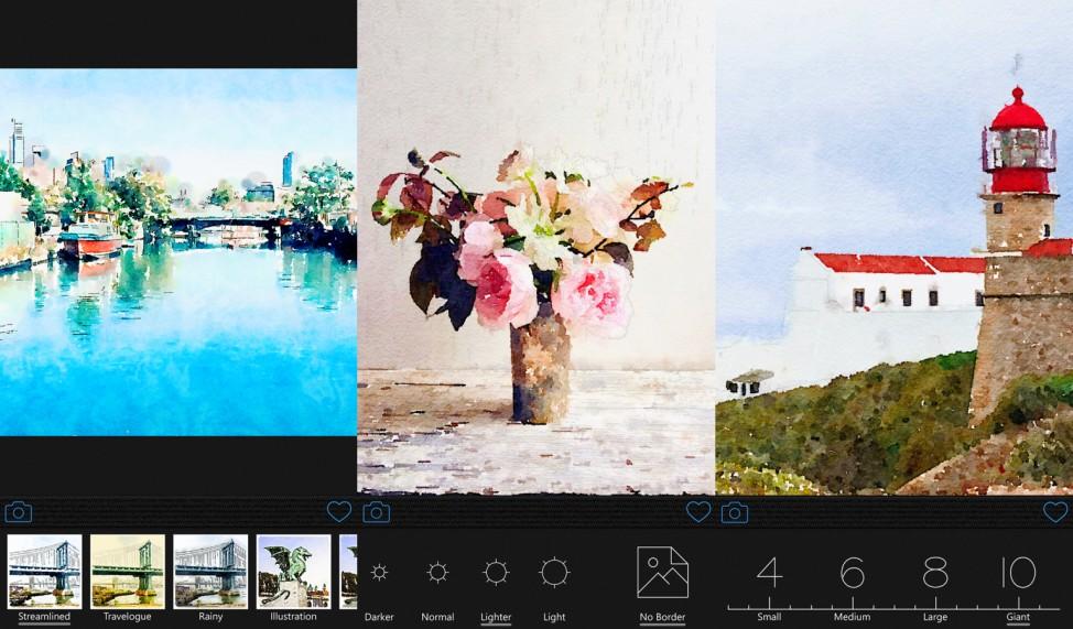 Die Foto-App Waterlogue