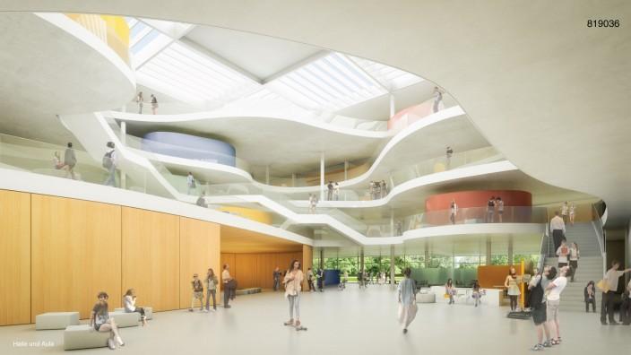 """Projekt 2030: Der Neubau des Gymnasiums Kirchheim ist wesentlicher Bestandteil der Planung """"Kirchheim 2030""""."""