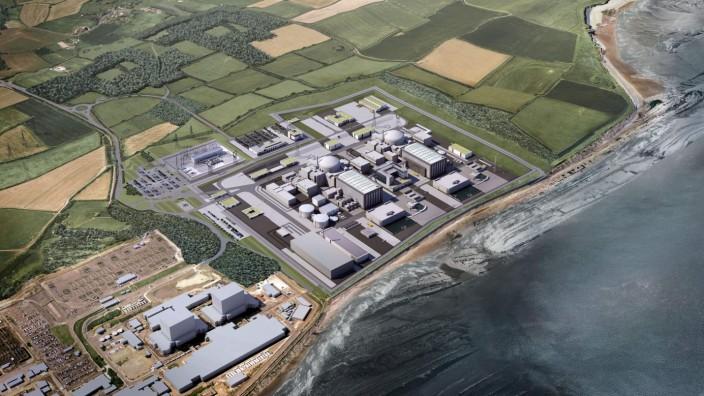 Hinkley Point: Die Baustelle für das Atomkraftwerk gibt es schon in Hinkley Point und auch die Reaktoren A und B. Deswegen heißt das neue Projekt Hinkley Point C.