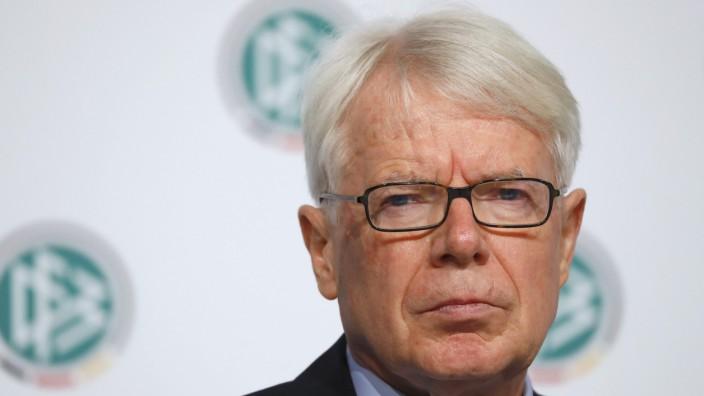 German Football Association interim president Rauball presents independent report on 2006 World Cup in Frankfurt