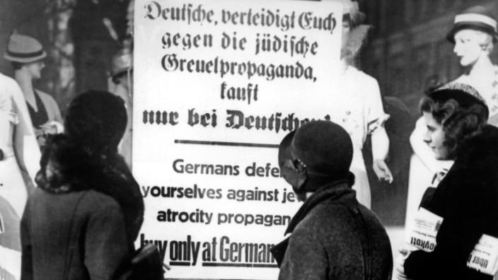 1. April 1933: Aufruf der Nazis zum Judenboykott