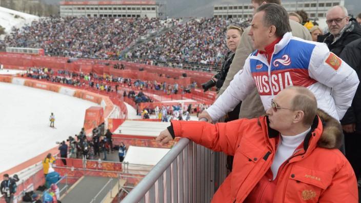 Doping: Präsident Putin und Minister Mutko im Skistadion.
