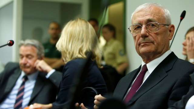Defendants Mustac and Perkovic, former members of Yugoslav secret service await trial in Munich