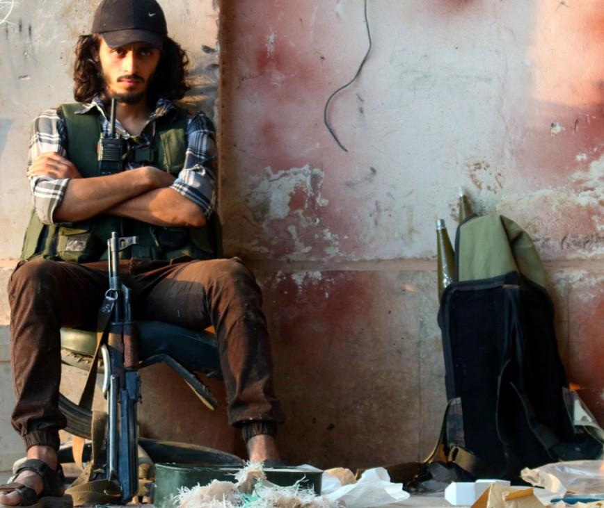 Kämpfer in Aleppo, Syrien