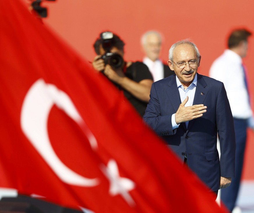 Turkey's main opposition Republican People's Party leader Kilicdaroglu attends Democracy and Martyrs Rally in Istanbul