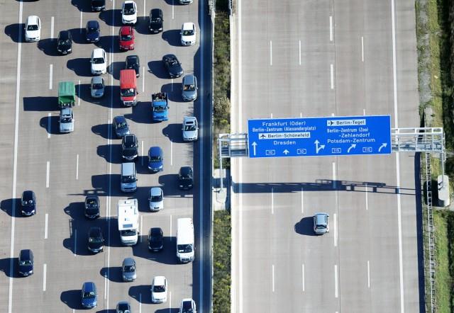 Autobahn-Stau in Brandenburg