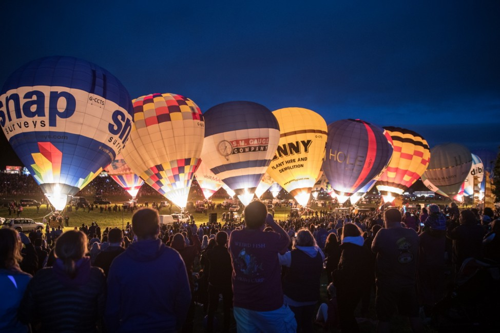 Hot Air Balloons Take To The Skies For The Annual Fiesta