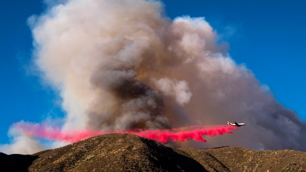 Blue Cut fire rages in California