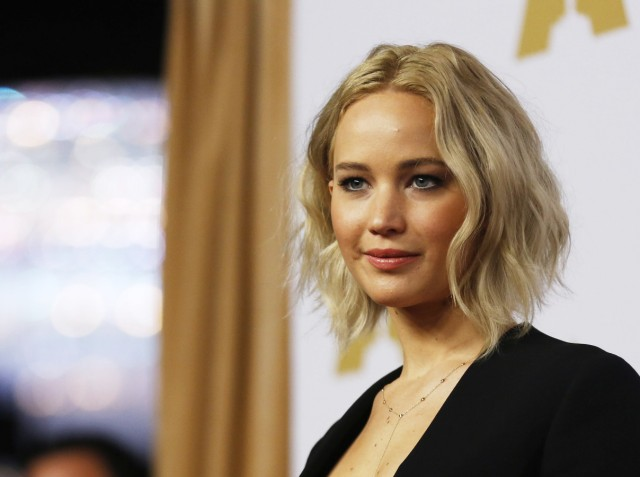 Jennifer Lawrence arrives at the 88th Academy Awards nominees luncheon in Beverly Hills