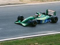 Michael Schumacher bei seinem ersten Formel 1 Rennen dem großen Preis von Belgien 1991 Spa Franc