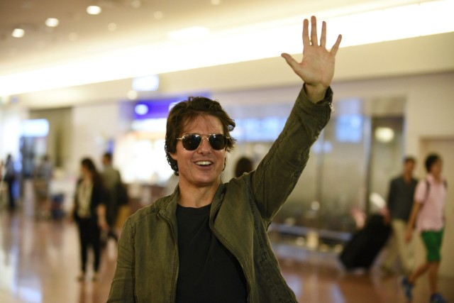 US actor Tom Cruise in Tokyo