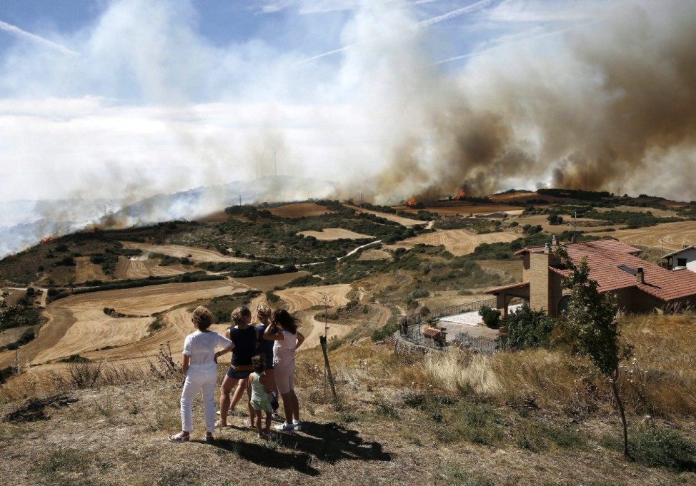 Fire at the village of Tafalla